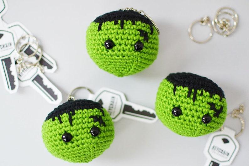 FRANKENSTEIN Crochet Pattern. Frankey Keychain. Crochet image 0