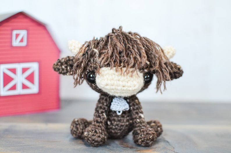 Cow CROCHET PATTERN. Hilde The Highland Cow. Crochet Cow image 0