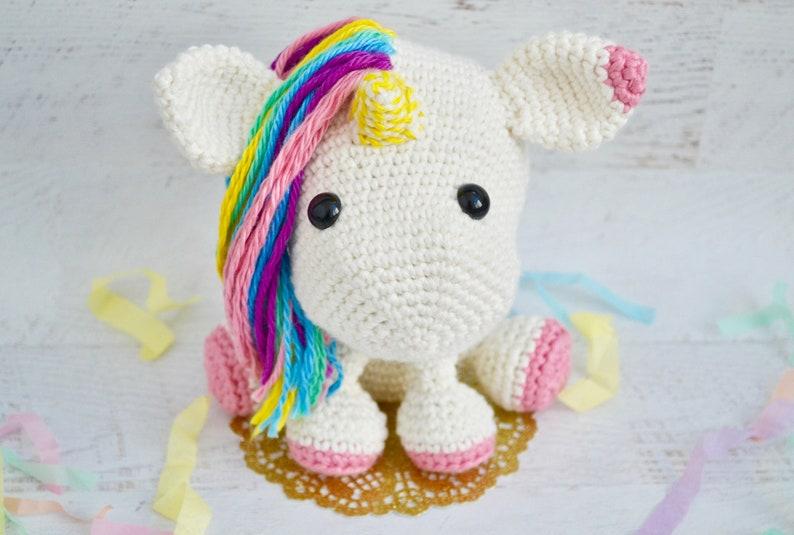 Unicorn CROCHET PATTERN. Una The Unicorn. Crochet Unicorn image 0
