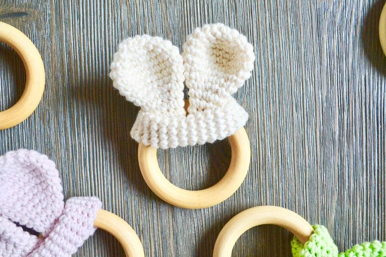 Bunny Ears CROCHET PATTERN. Bunny Ear Teether. Crochet Bunny image 0