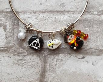 Harry Potter Inspired Bangle Bracelet