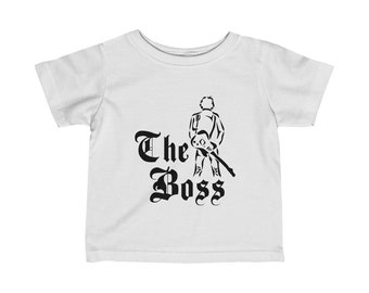 The Boss Bruce Springsteen Baby T shirt   Baby Graphic T shirt   Gender Neutral   Boss Baby