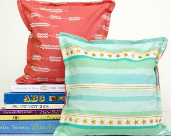 Modern Nursery & Kid's Bookends, Child Safe Fabric Bookends, Reversible-Colorful Nursery and Children's Decor, Modern Bean Bag Bookends