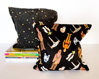 Star Wars Nursery & Kid's Bookends, Child Safe Fabric Bookends, Reversible- Colorful Nursery and Children's Decor, Modern Bean Bag Bookends