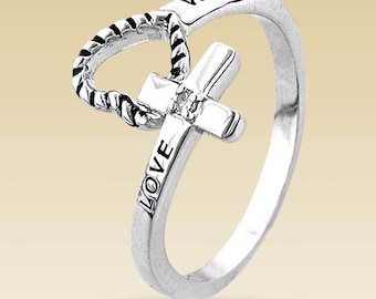 LOVE WAITS Purity Chastity Promise Ring ~ Stainless Steel  ~  Original Design!  ~  FREE Shipping!