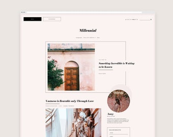 Millennial • Responsive Blogger Template, Blogger Template, Responsive Blogger Theme, Blogger Theme,  Minimalist Blogger
