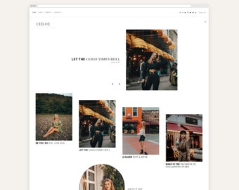 Chloe • Responsive Blogger Template, Blogger Template, Responsive Blogger Theme, Blogger Theme, Minimalist, Floral + Free Installation