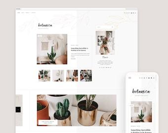 Botanica • Responsive Blogger Template, Blogger Template, Responsive Blogger Theme, Blogger Theme, Minimalist, Floral + Free Installation