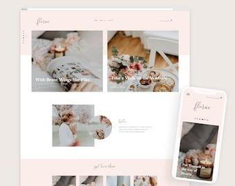 Florae • Responsive Blogger Template, Blogger Template, Responsive Blogger Theme, Blogger Theme, Minimalist + Free Installation