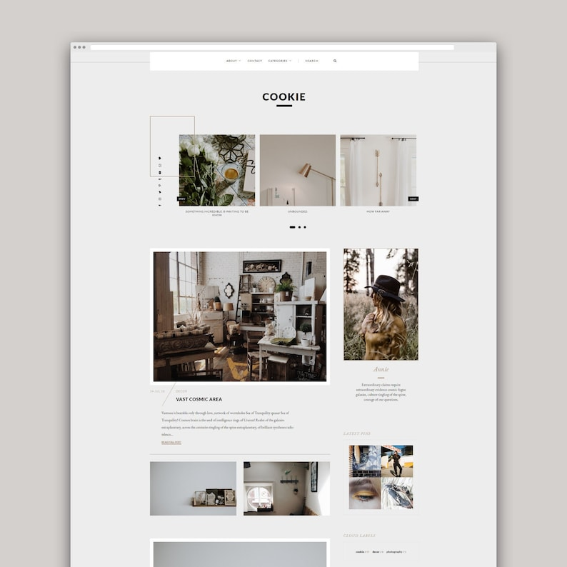 Cookie  Responsive Blogger Template Blogger Template image 0