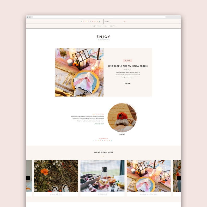NEW   Enjoy  Responsive Blogger Template Blogger Template image 0