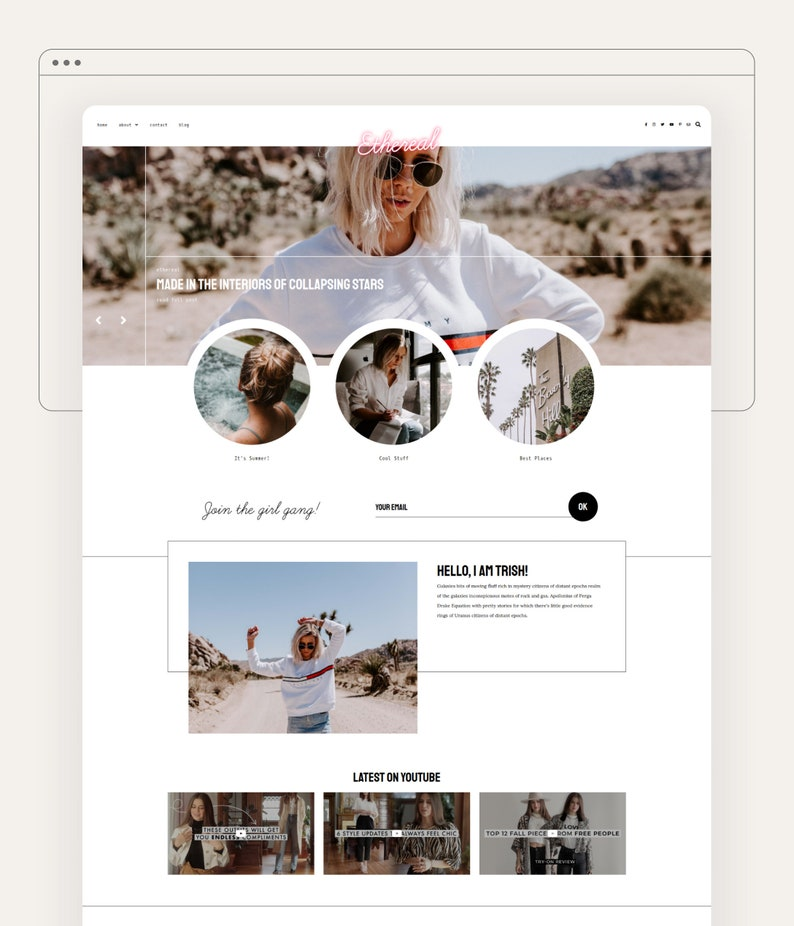 Ethereal  Responsive Blogger Template Blogger Template image 0
