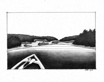 Canoe on Buck Bay (original)