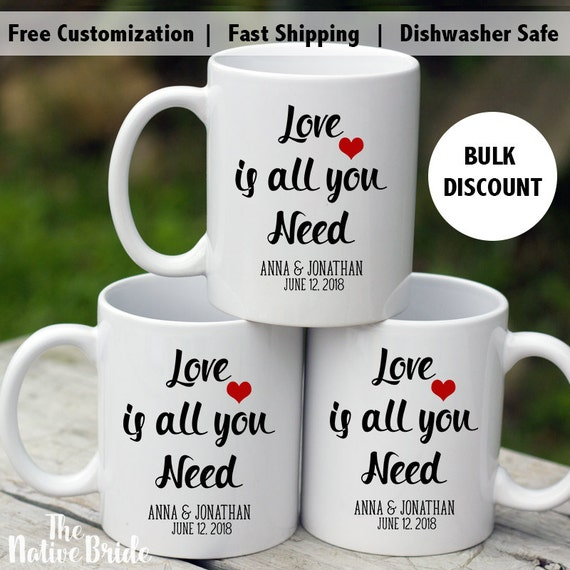 Coffee Mug Wedding Favors Alternative Wedding Favors Love Is Etsy