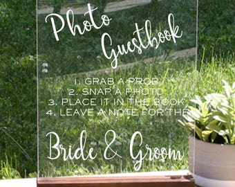 Photo Guestbook Sign, Guestbook Photo Sign, Boho, Acrylic Wedding Sign, Acrylic Sign Wedding, wedding reception signs, boho chic party decor