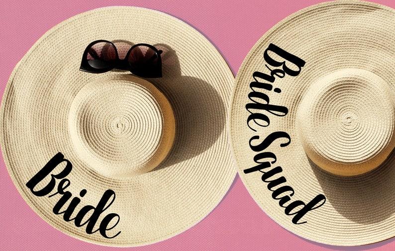 84b8af360c5a6 Bride Bride Squad Squad Floppy Hat Custom Floppy Hat Sun