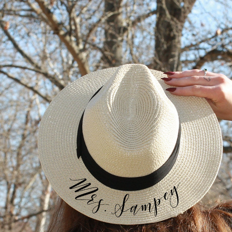 334e1341f0f Mrs. Panama Hat Fedora Custom Sun Hat flat brim Newly