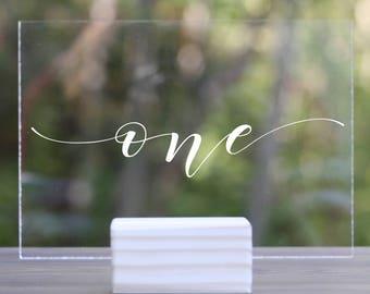 Custom Acrylic Table Numbers, Minimalist Table Numbers, Wedding Table Numbers Acrylic, Clear Wedding Table Numbers, Wedding Table Numbers