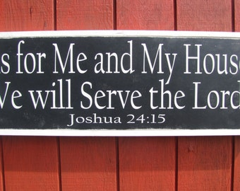 Scripture Wood Sign Christian Wall Art As For Me and My House Bible Verse Sign Large Wooden Sign Bible Verse Sign