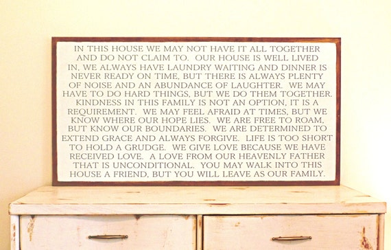 Inspirational Wall Decor Home Decor Sign Wooden Signs For Etsy