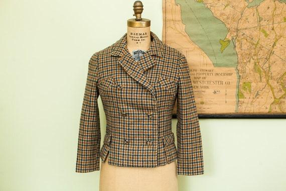 Vintage 50s Kirkland Hall Houndstooth Jacket Petit