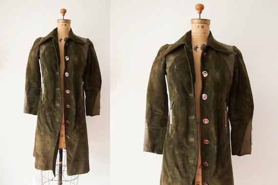 Rare Vintage 1970s Gucci Suede Leather Coat - image 1