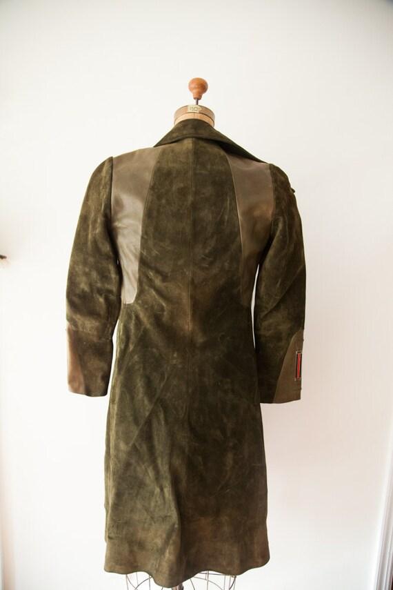 Rare Vintage 1970s Gucci Suede Leather Coat - image 2