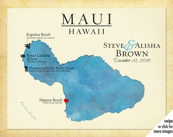 photo about Printable Map of Maui identify Maui map Etsy