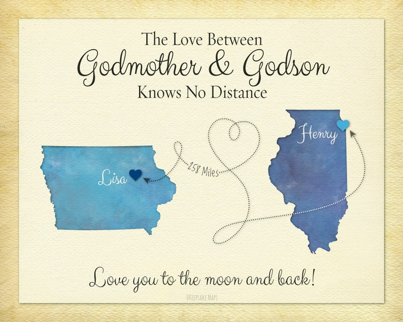 Godmother Gift Godson Long Distance Personalized