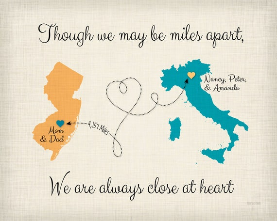 Moving Away Gift Idea Though We May Be Far Apart Quote Gift Etsy