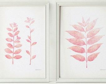 Pink prints Small art prints, Nursery Set, Pink nursery art, Girls room decoration, Girl nursery art 5 x 7 prints, Pink decoration DOWNLOAD
