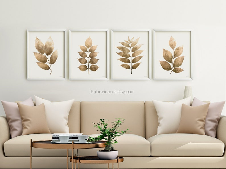 Living room wall art set Nature wall decor posters PRINTABLE image 0