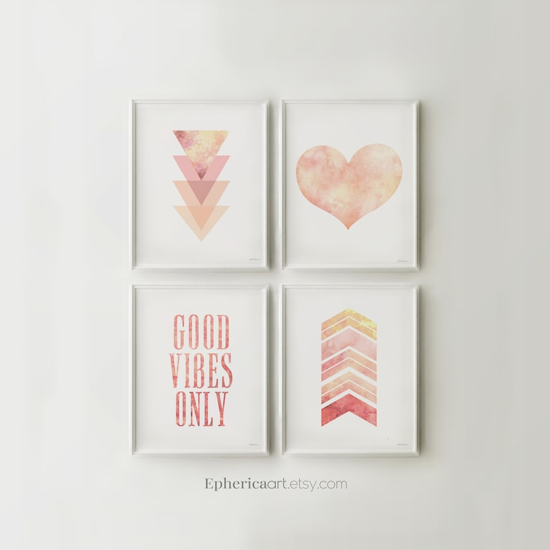 Printable prints Bedroom gallery wall art Set 4 prints wall image 0