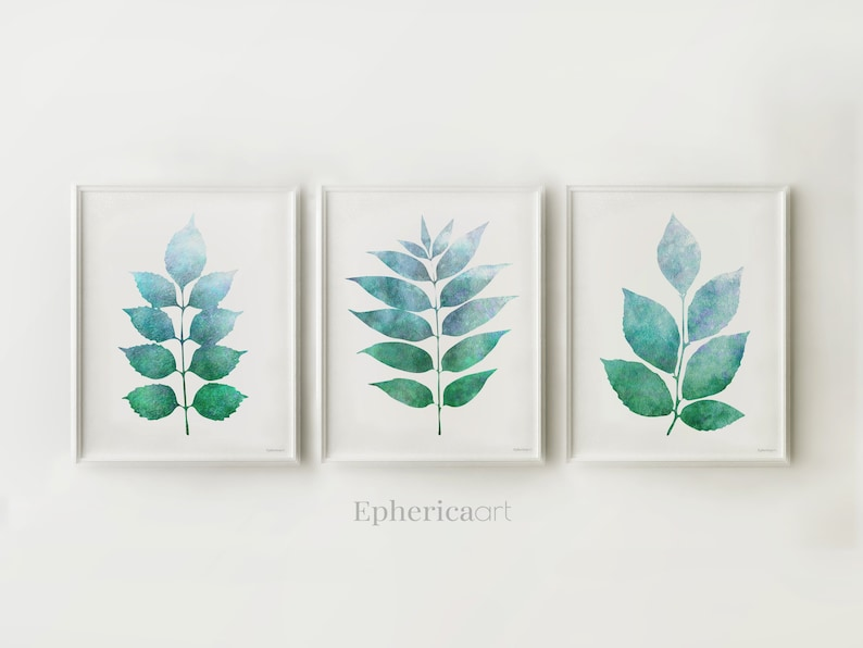 Printable art work Collection of Botanical designs Blue and image 0