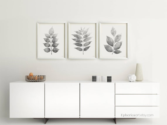 Three Piece Wall Art Dining Room Black And White Print Set Of Etsy