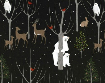Bucks and Boughs Christmas Deer Antler Fabric by Michael Miller