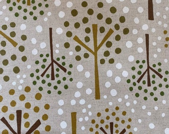 Trees on Canvas from Cocoland Fabrics Japan