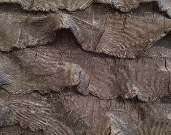 Black Ruffle Fabric