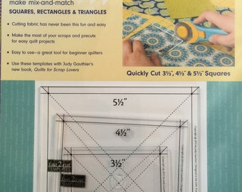 Fast 2 Cut Templates for use with Quilts for Scrap Lovers Book