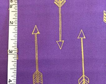Michael Miller Metallic Arrows Lavender