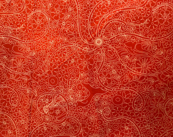 Sunprints 2018 by Alison Glass for Andover Fabrics in Orange