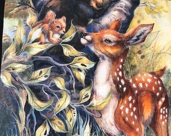 North American Wildlife Digital Panel from Robert Kaufman Fabrics