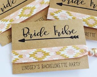 Elastic Hair Tie//Creaseless Hair Tie//Bachelorette Party Favors//Bride Tribe Hair Ties