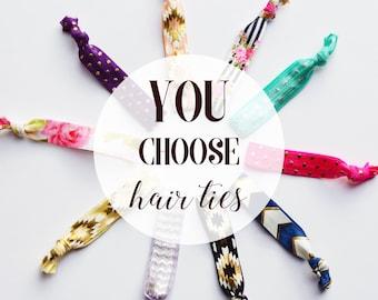 Elastic Hair Ties  Creaseless Hair Ties  You Choose Colors  Everyday  Elastic Hair Ties  No Crease Hair Ties ed73f97516f