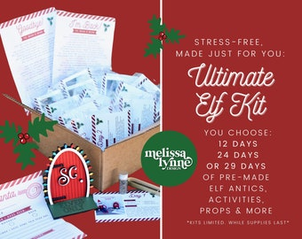 Elf Kit 2021/Elf Activity Kit/Elf Kit Pre-Order/Elf Props/Christmas Elf Activities/Pre-planned Elf Props/24 days of Elf Activities
