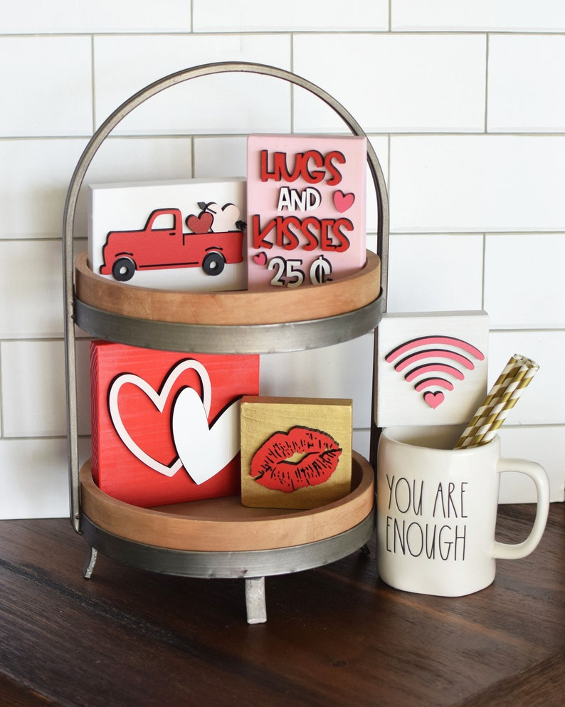 Valentines Day Tiered Tray Decor//Tiered Tray Valentines image 0