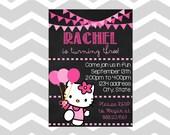 Artículos Similares A Hello Kitty Cumpleaños Tarjeta De La