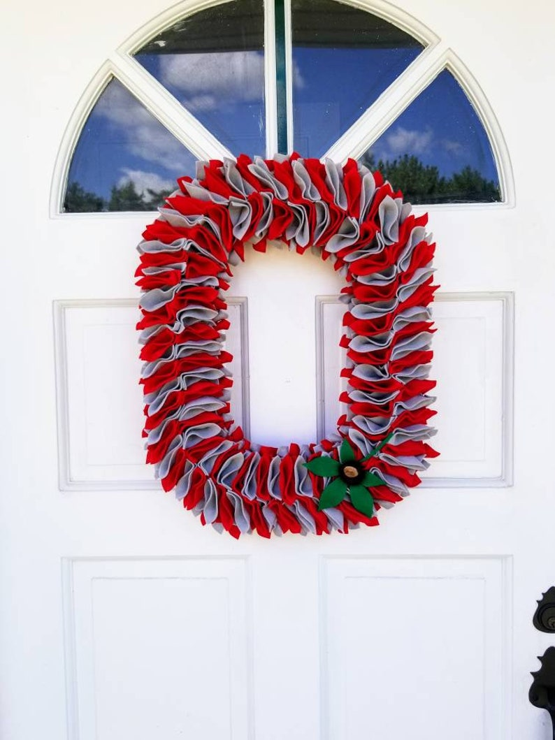 The Ohio State University  Block O Wreath  Two Color image 0