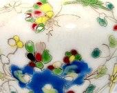 Chinese Qianlong Dynasty Porcelain Falangcai Enamel Snuff Bottle Flowers Butterflies - Iron Red 4 Character Kaishu Mark In Iron Red