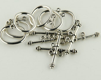 Toggles Double Strand  Silver Toggle Clasps Six